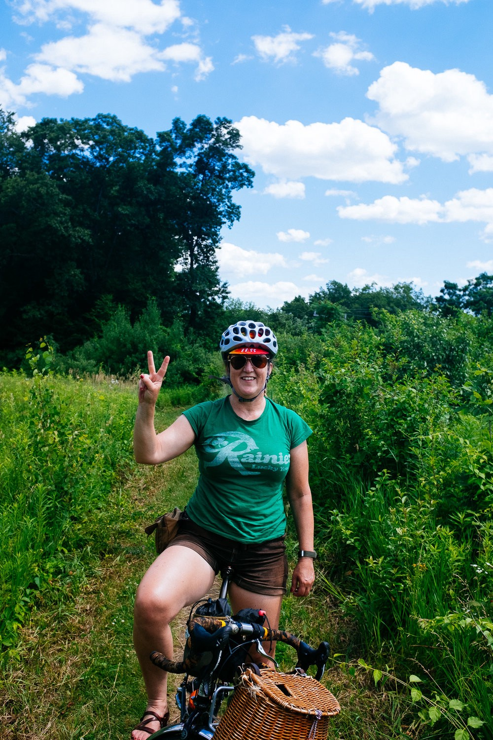 Me actually having fun on a trail on my bike. Maybe it's just the love I have for my hubby.