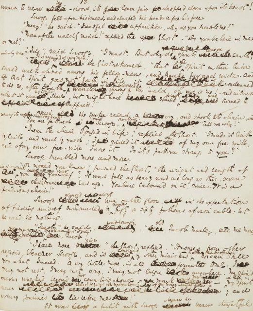 a christmas carol original manuscript purchased by j p morgan in 1897 author courtesy of the morgan library - A Christmas Carol Full Text