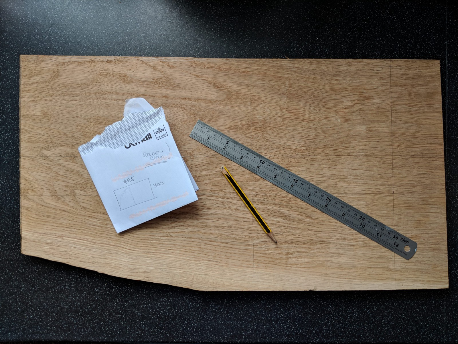 Marking out. - Making a Chopping Board