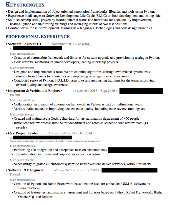 Hybrid A Resume Combines Both The Chronological And Functional Styles It Can Be Helpful For Mid Level Roles That Require Combination Of