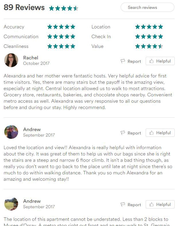 how to write review airbnb