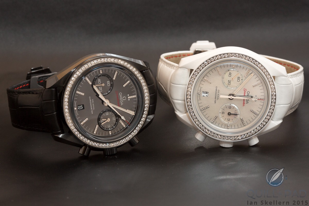 Omega Speedmaster White side of the Moon and Grey side of the Moon