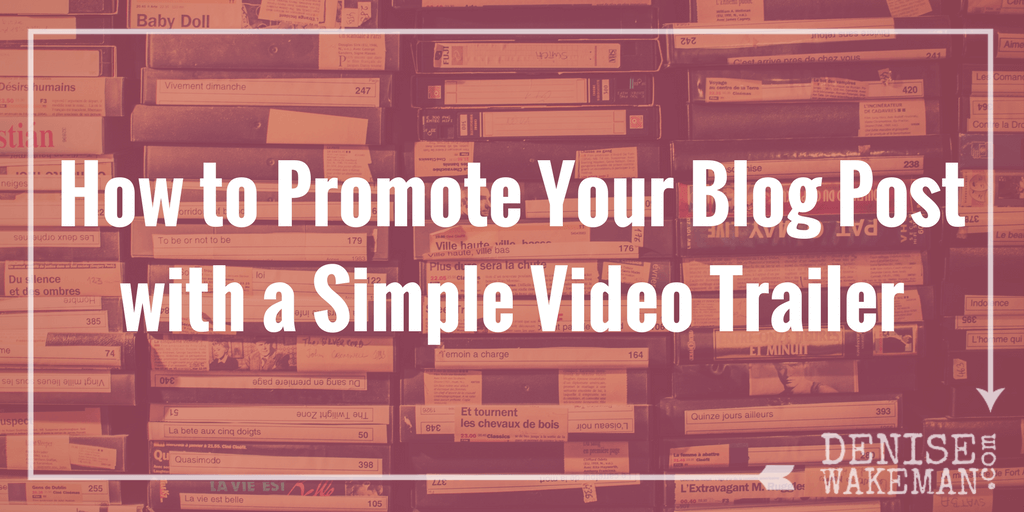 How to Promote Your Blog Post with a Simple Video Trailer with Lumen5