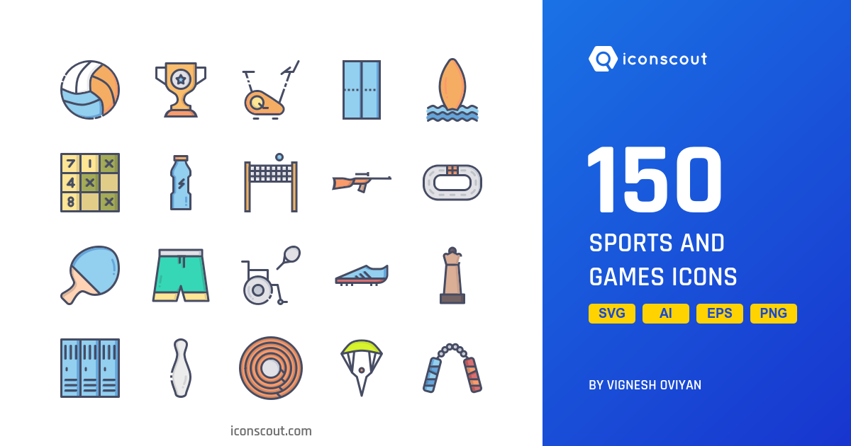 Sports And Games icons by Vignesh Oviyan