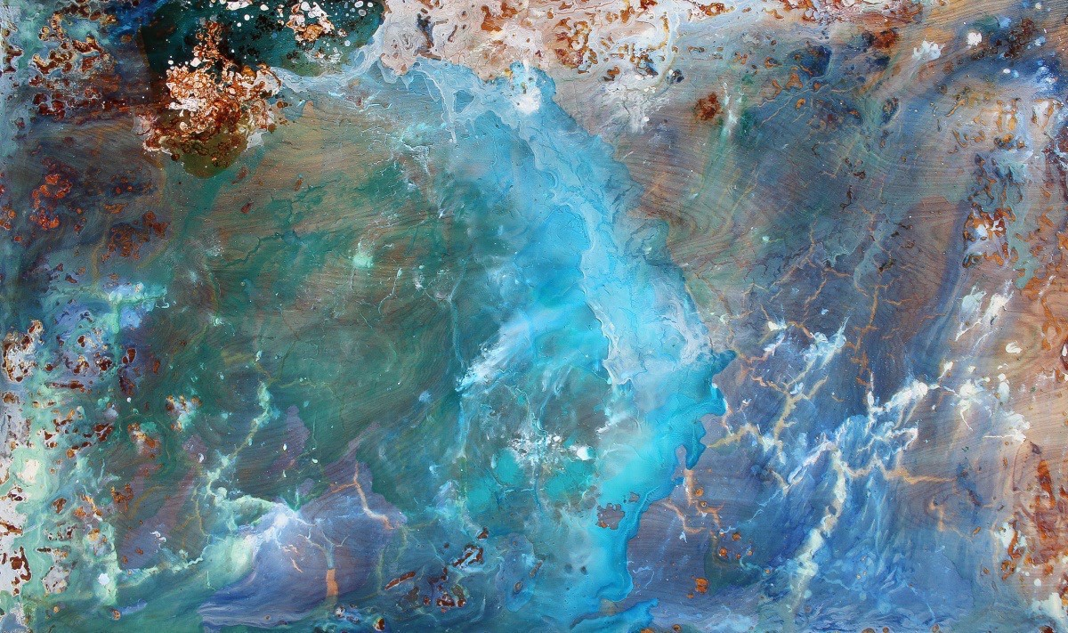 Chantal Barlow, Forming the Seas, 2015 abstract painting