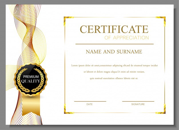 certificate of appreciation design ornamental diploma template - Certificate Templates