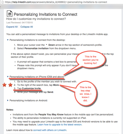 LinkedIn Mobile App Hack: 5 Easy Steps To Personal Connection Requests