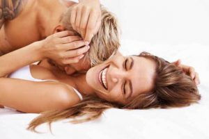 turn up the heat by kissing your partners neck during their erotic massage