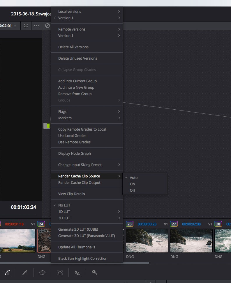 All you need to know about Caching in DaVinci Resolve 12
