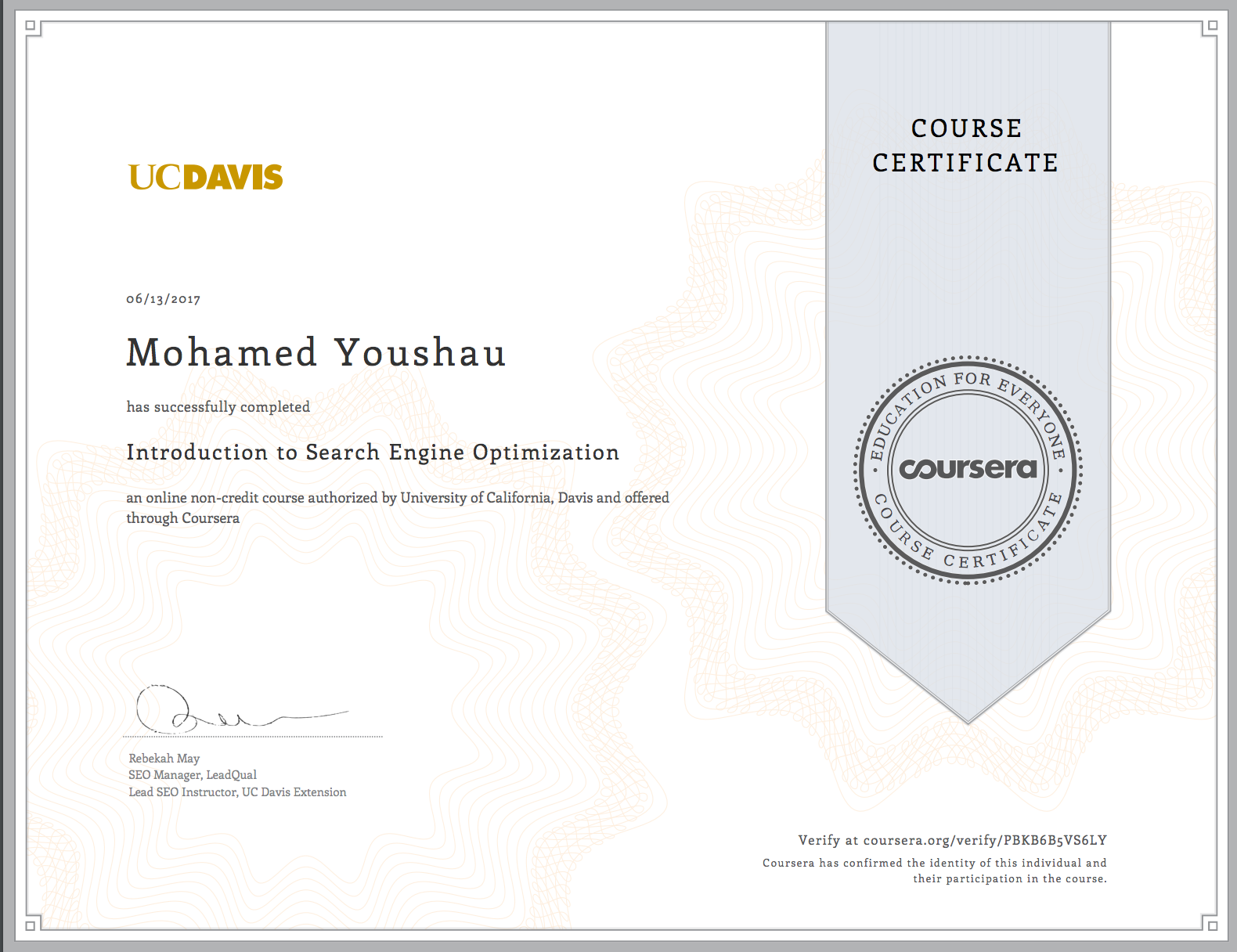Deep Work Getting A Coursera Certificate Ushau Mohamed Medium