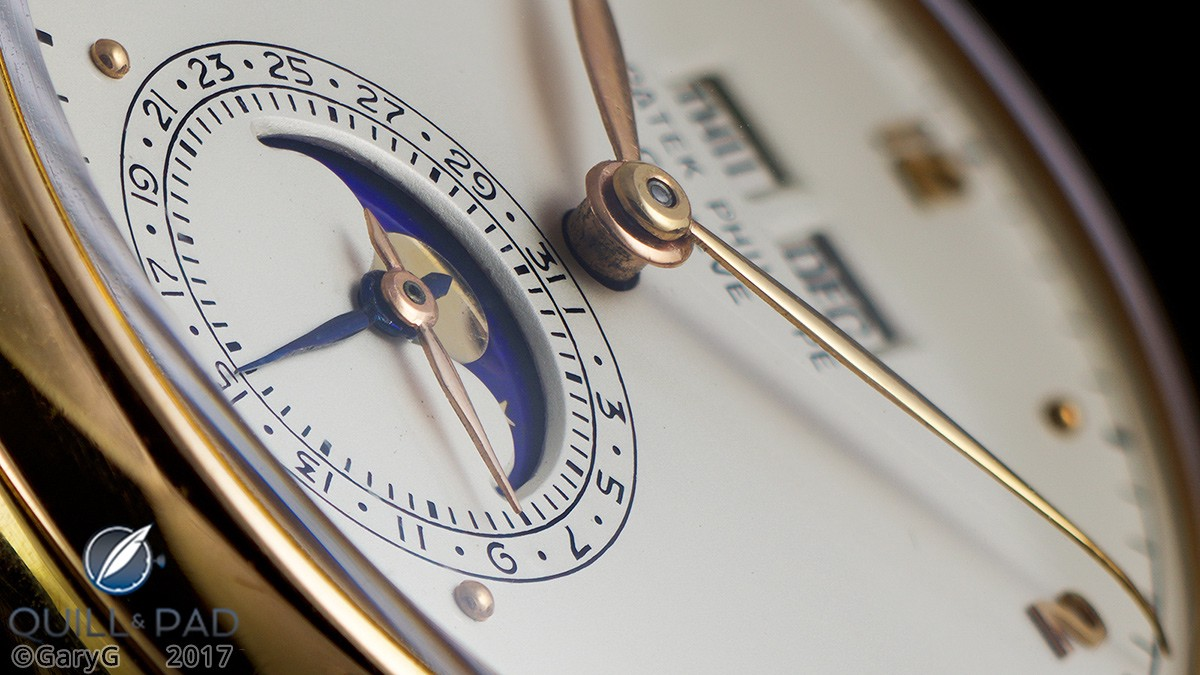 Vintage appeal: champlevé dial and hand-formed hands of the Patek Philippe Reference 1526 in pink gold