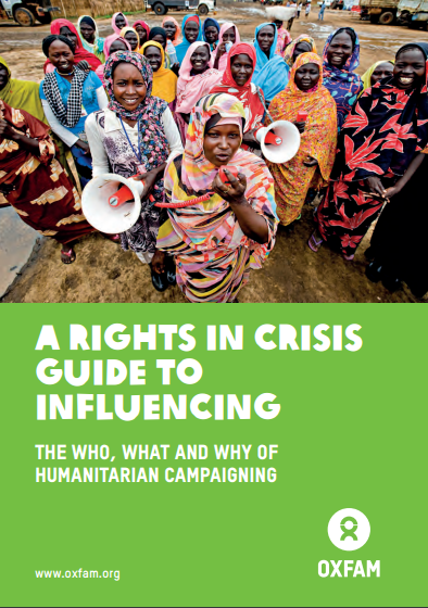 Humanitarian influencing guide cover