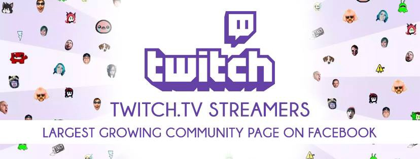 twitch tv streamers streaming facebook community page