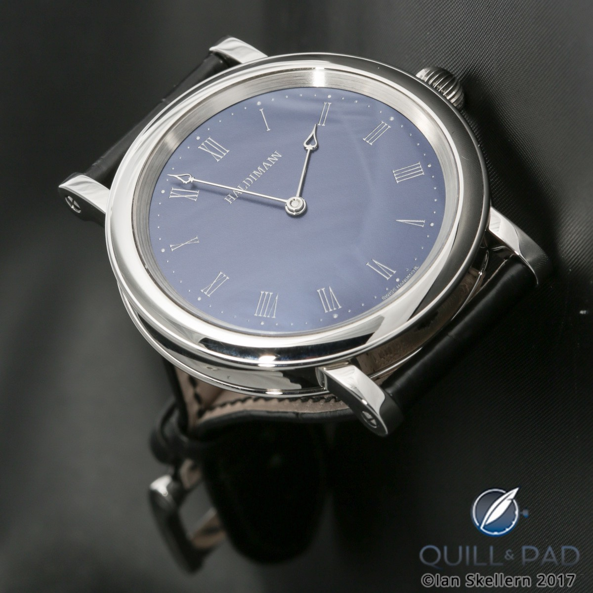 Beat Haldimann H11 with blue dial in stainless steel