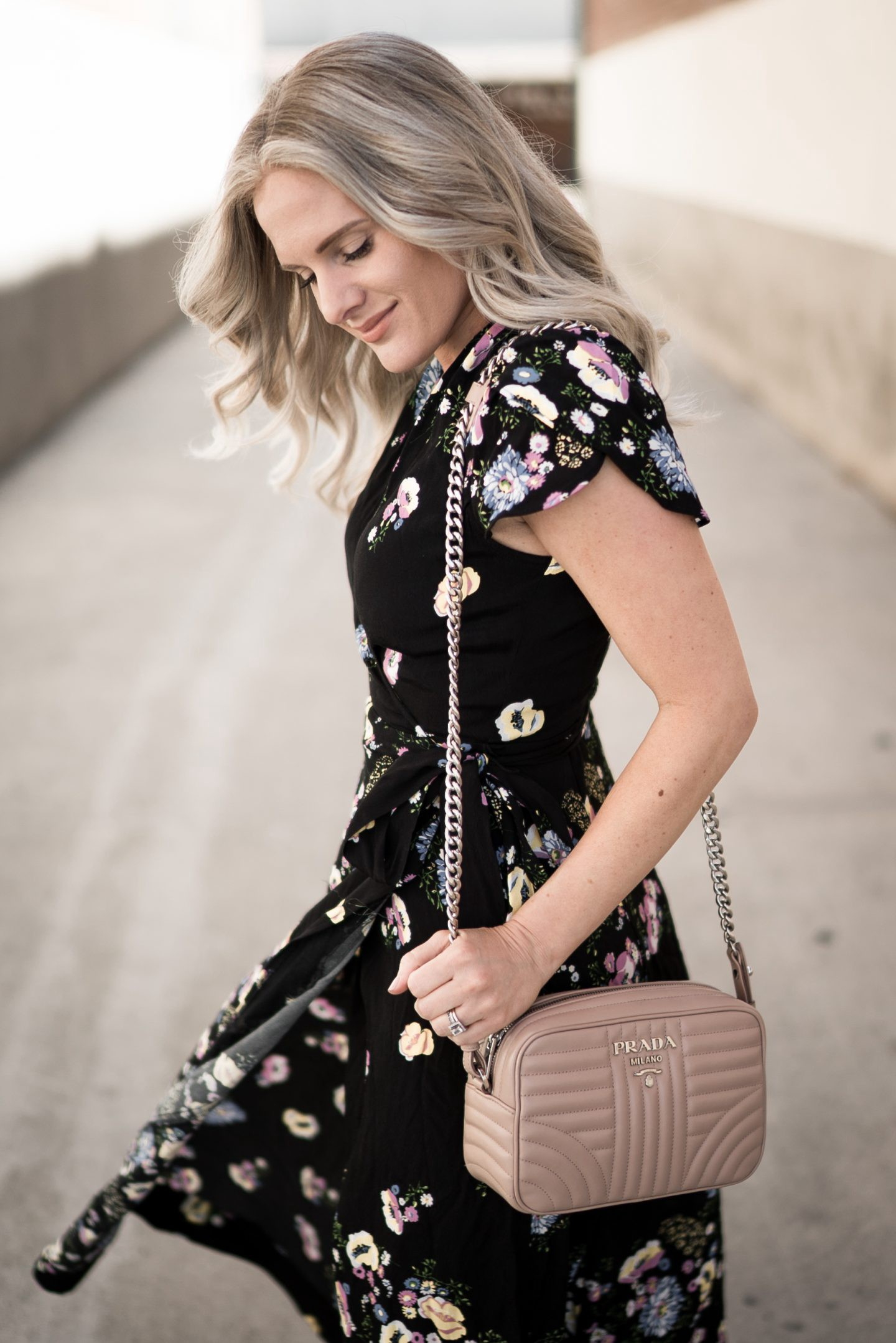 A Stunning Floral Maxi Dress for Date Night featured by popular Orange County fashion blogger, Dress Me Blonde