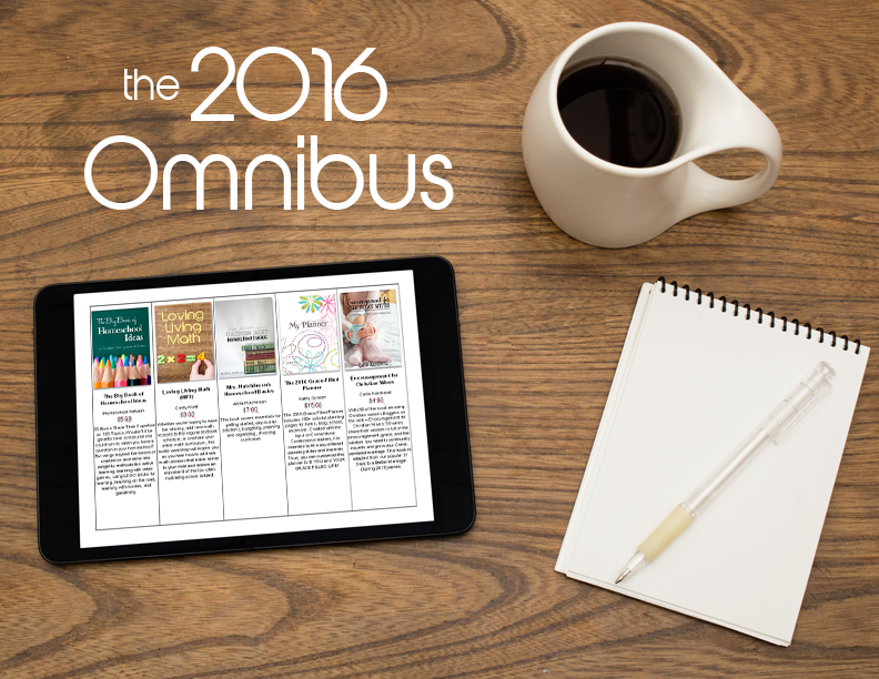 The 2016 Homeschoolers Omnibus has 90 downloads (including ours) for only $25