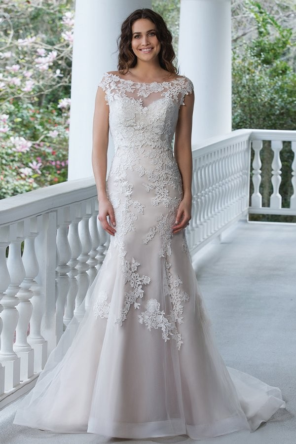 87b2b2112fc Style 3942 by Sincerity Bridal — Floor length LaceSatinTulle ...