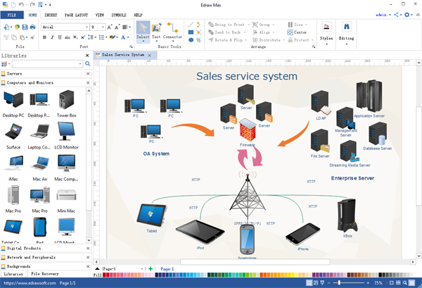 Best visio alternatives for network diagramming olivia camp medium there are thousands of standard and polished symbols for network diagramming you can not only drag and drop those symbols you can also create and ccuart Images