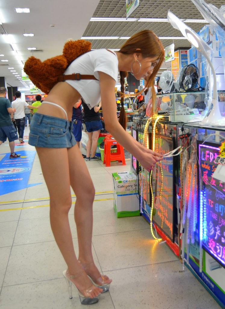 SexyCyborg in Huaqiangbei, the Shenzhen Electronics District.
