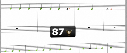 Display immediate feedback on all correct and incorrect notes that were played.