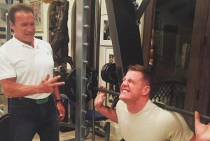 The-Arnie-and-J.J.-Watt-Bromance-Continues-with-a-Workout