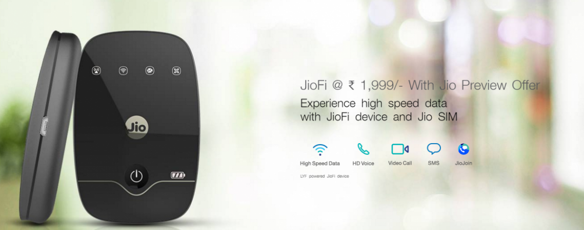 Reliance JioFi Wifi Price