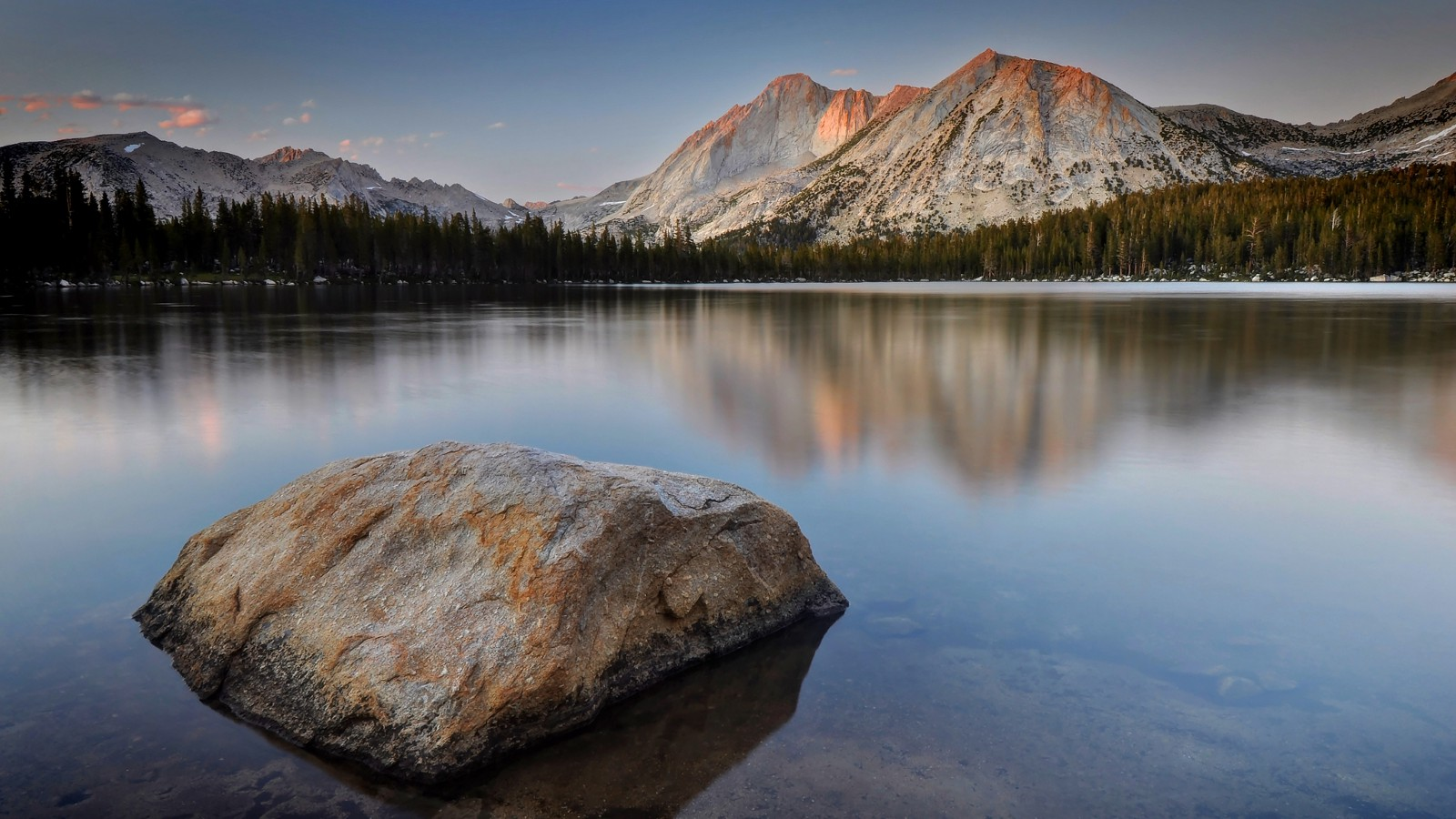 Mount Conness and Lower Young Lake, Yosemite National Park, California