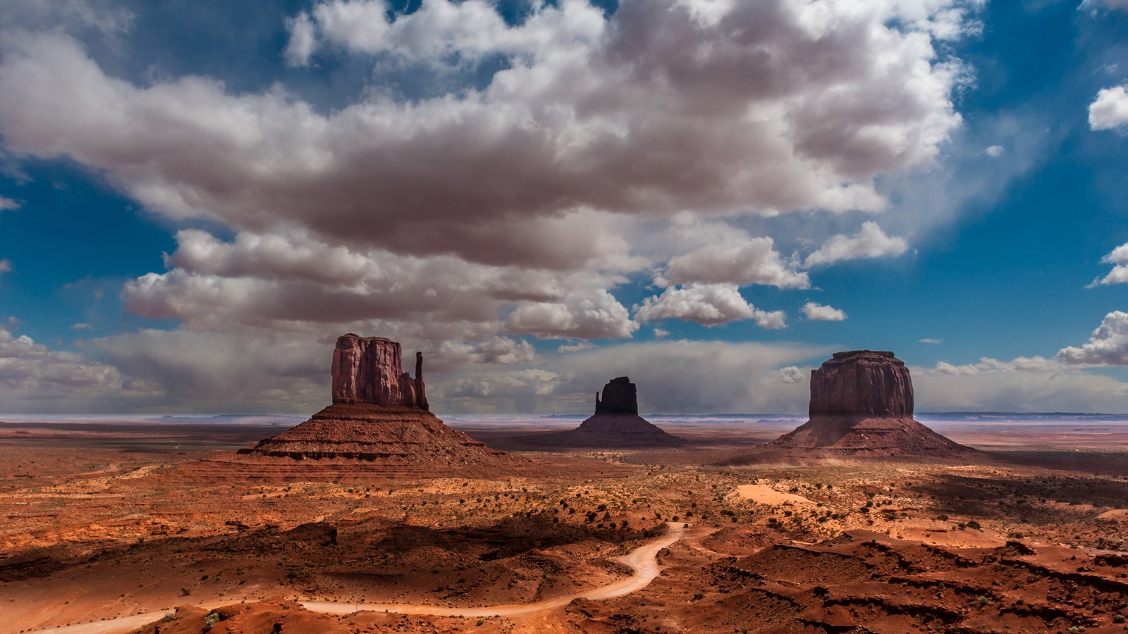 Three Buttes in Monument Valley, Arizona