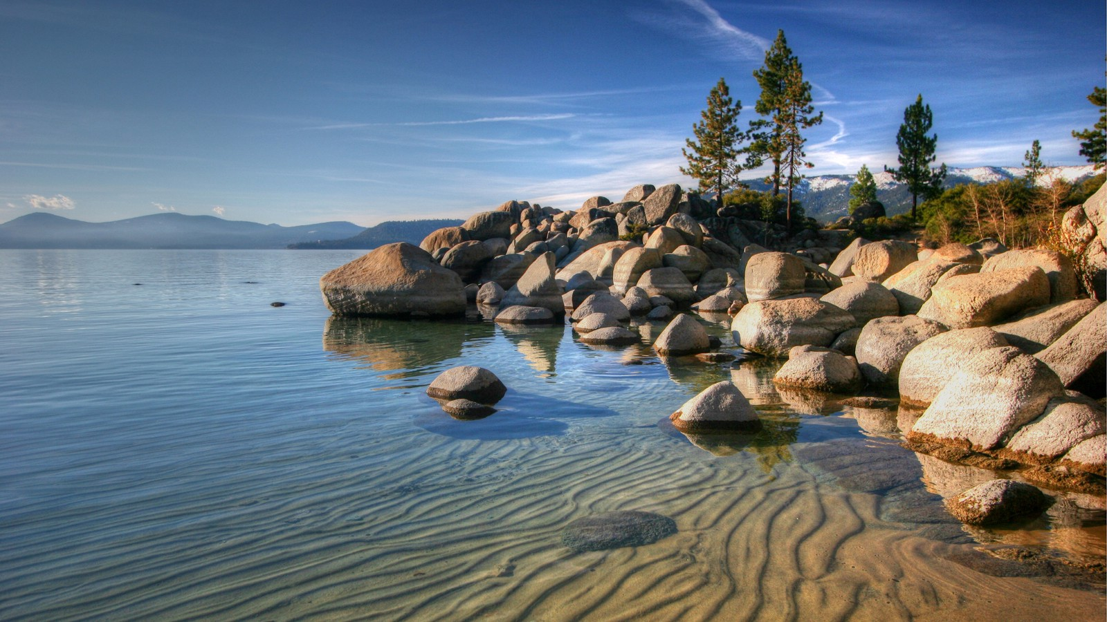 Late afternoon at Sand Harbor, Lake Tahoe, Nevada