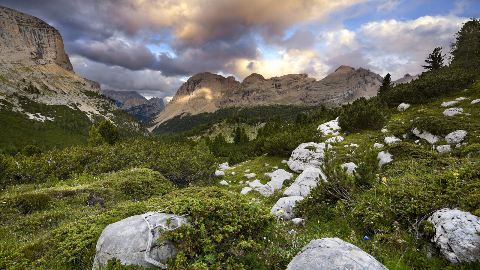 Fanes-Sennes-Prags Nature Park in the Dolomites, South Tyrol, Italy