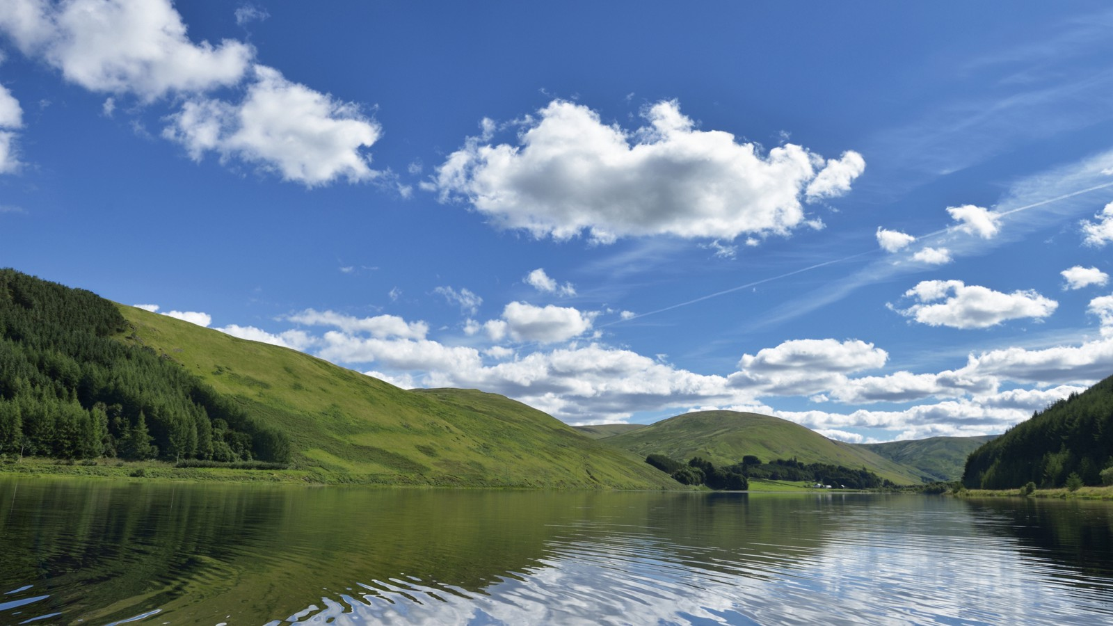 Part of St Mary's Loch near Moffat, Dumfries and Galloway, Scotland