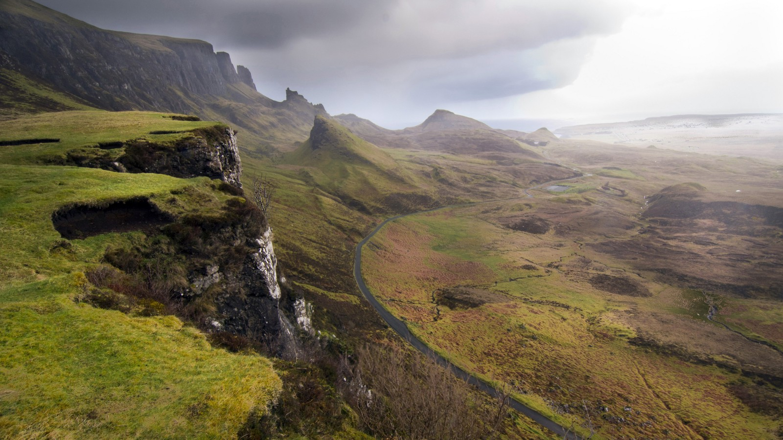 Looking toward the Quiraing at Sartle, Isle of Skye, Scotland