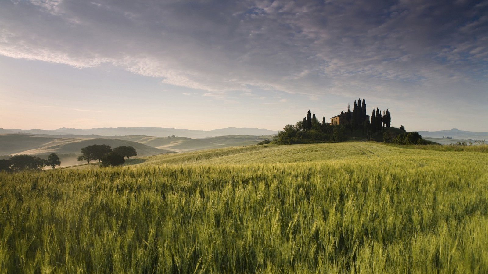 Val d'Orcia in the Tuscany region of Italy