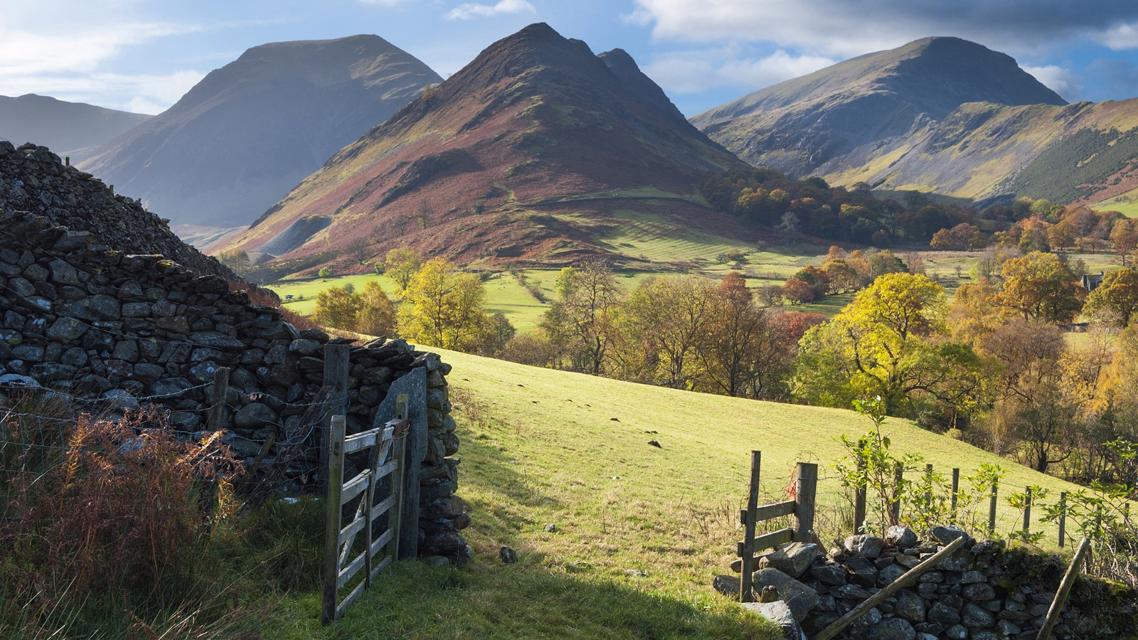 Newlands Valley near Keswick, Lake District National Park, England