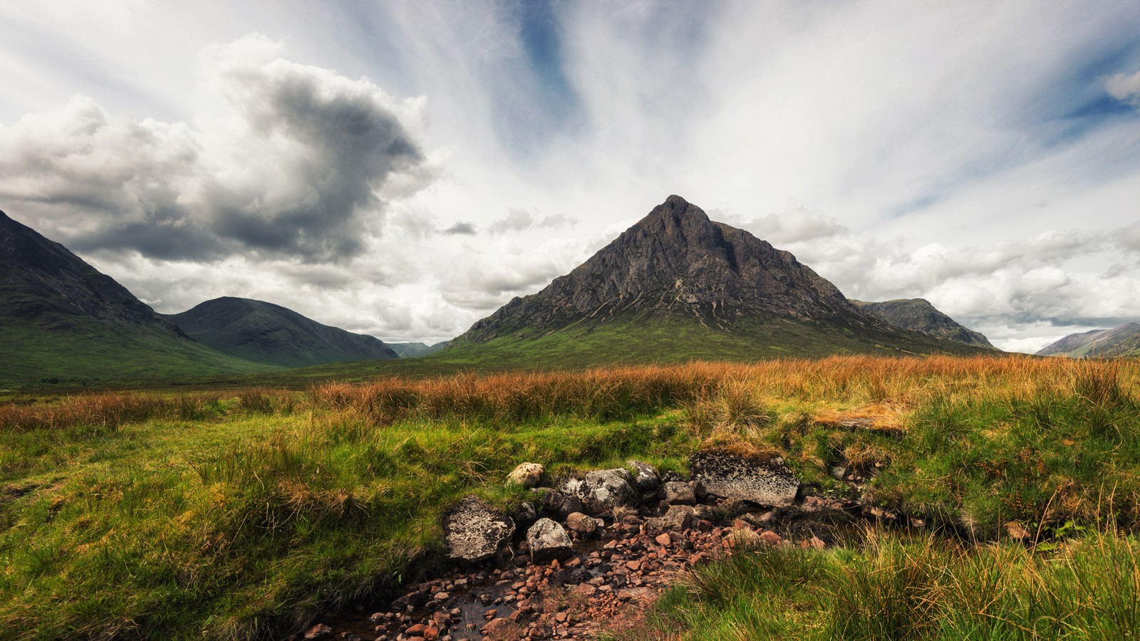 Buachaille Etive Mor at the entrance to Glen Coe, The Highlands, Scotland