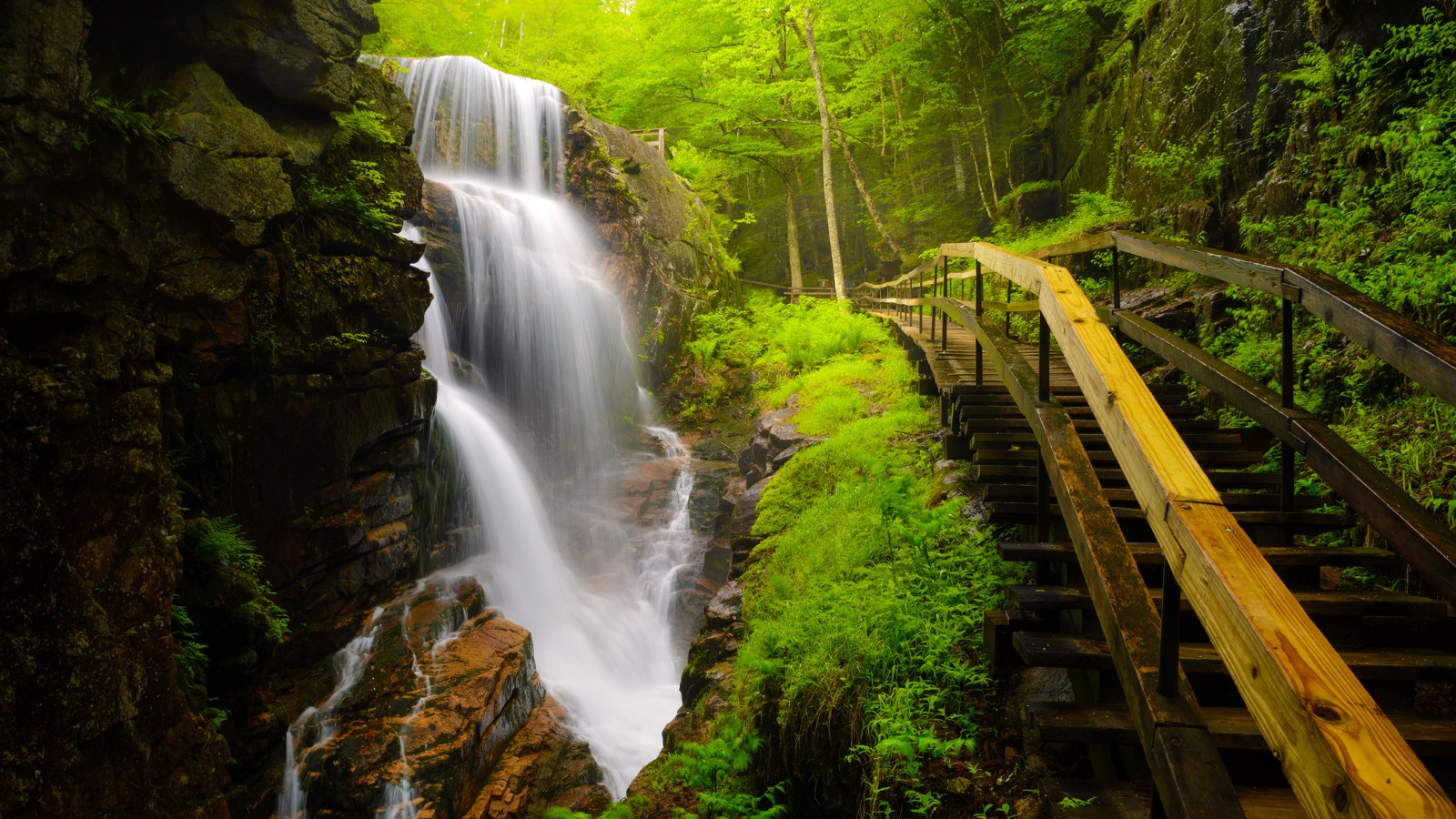Avalanche Falls at The Flume, Franconia Notch State Park, New Hampshire