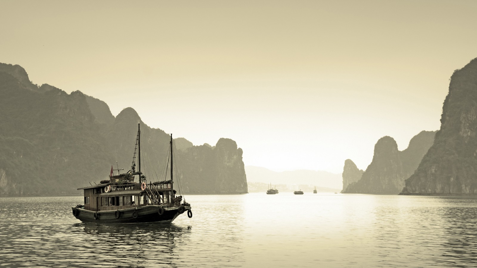 The Gulf of Tonkin in Halong Bay, near Vietnam