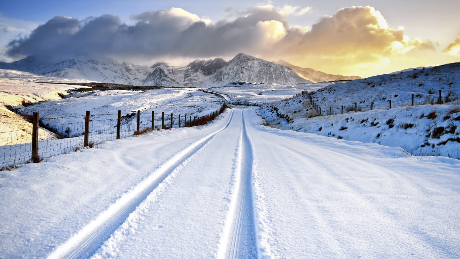 Snowy mountains, Isle of Skye, Scotland