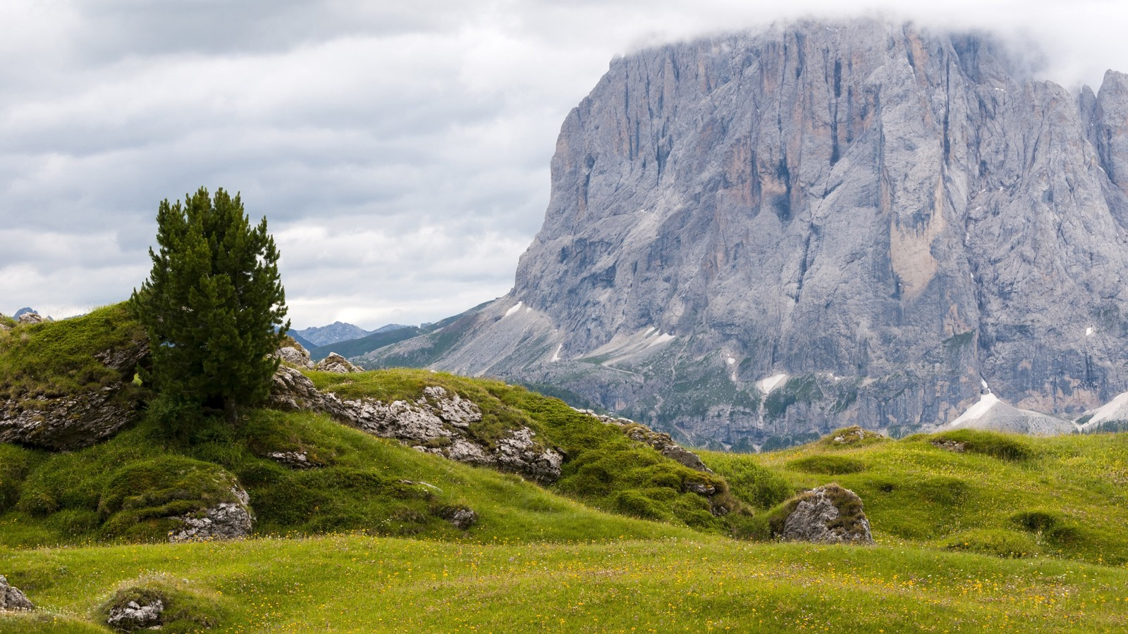 Mount Seceda area in Val Gardena, Italy