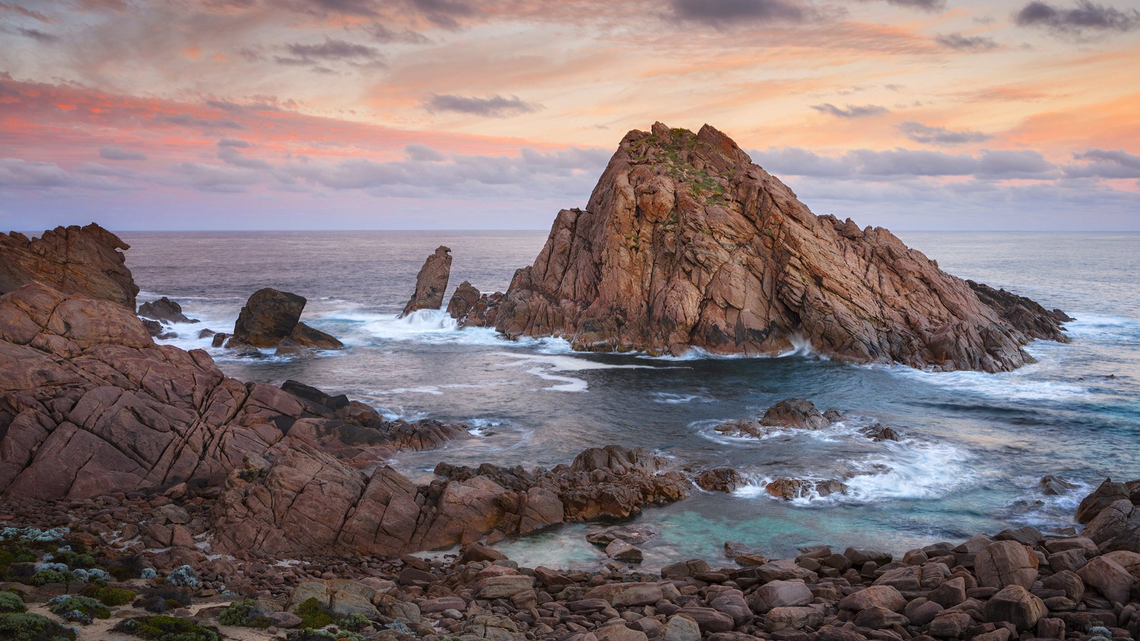 Sunrise at Sugarloaf Rock, near Dunsborough in Western Australia