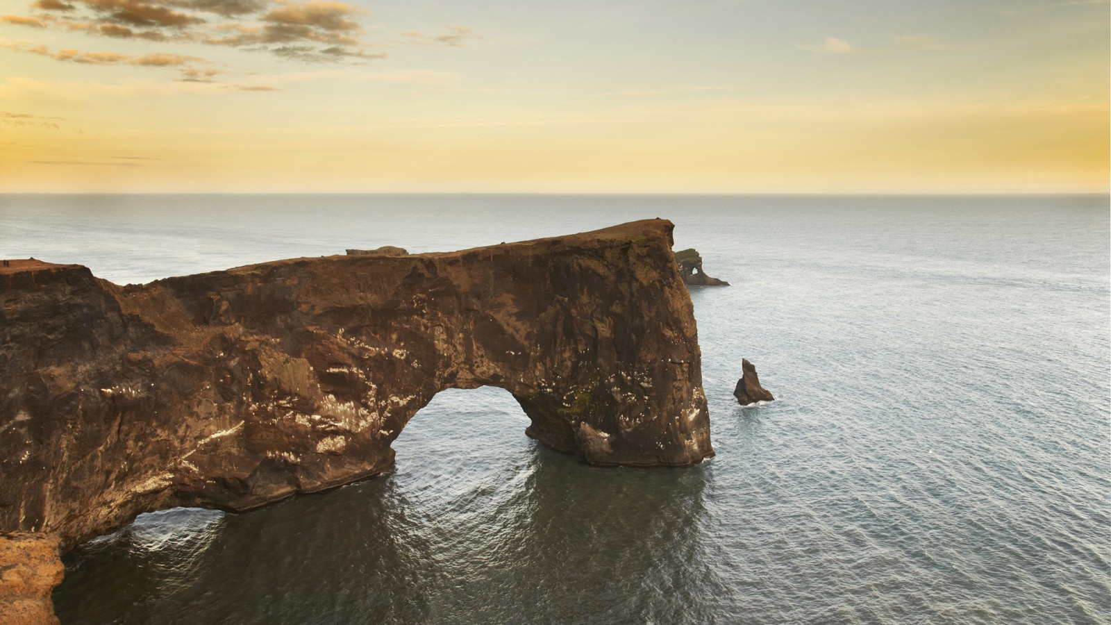 The cliffs of Dyrholaey Island, near Vik, Iceland