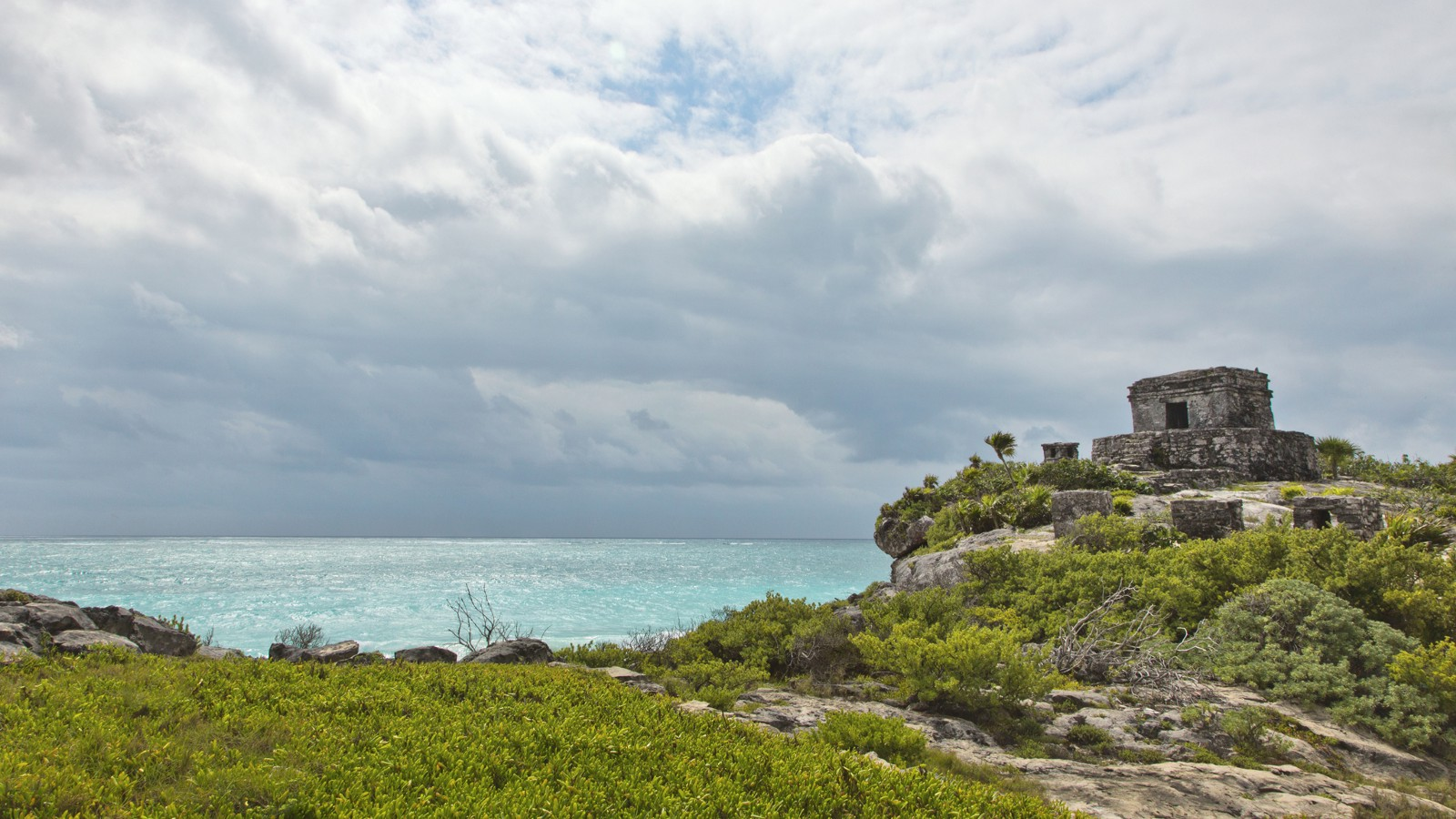 Temple of the Wind, Tulum Ruins, Quintana Roo, Mexico