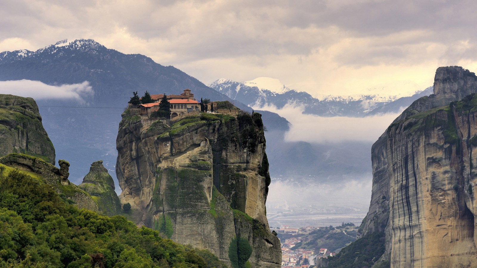 Meteora, a complex of Eastern Orthodox monasteries in Greece