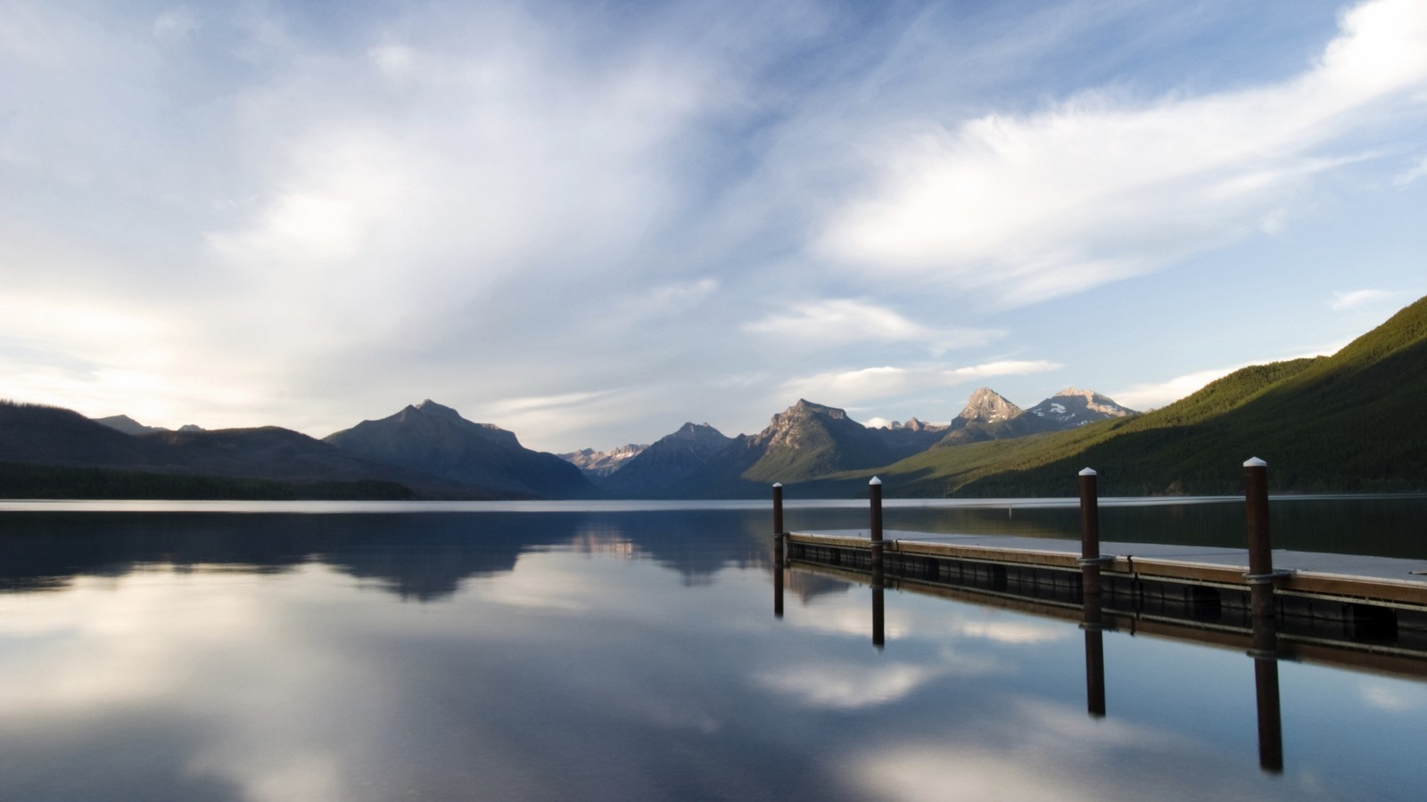 Lake Macdonald in Glacier National Park, Montana