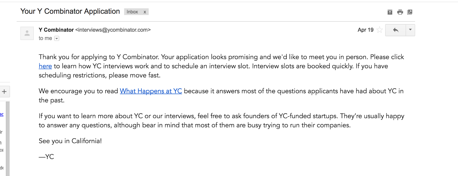 The YCombinator application procedure or How we almost made it