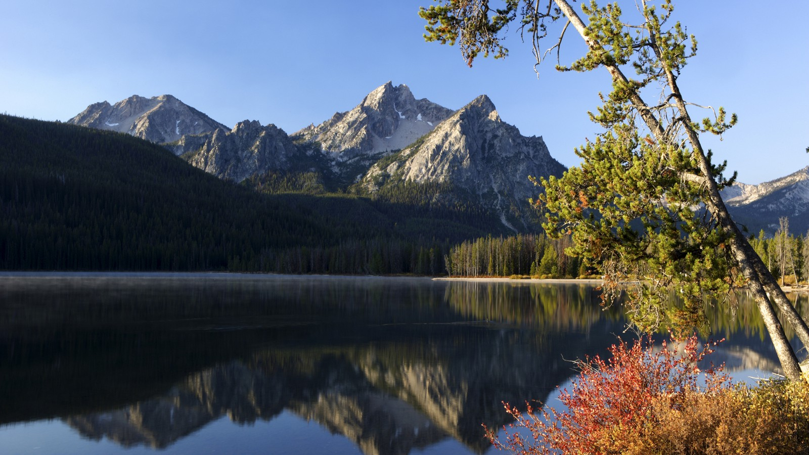 Stanley Lake at Sawtooth Mountains National Recreation Area, Idaho