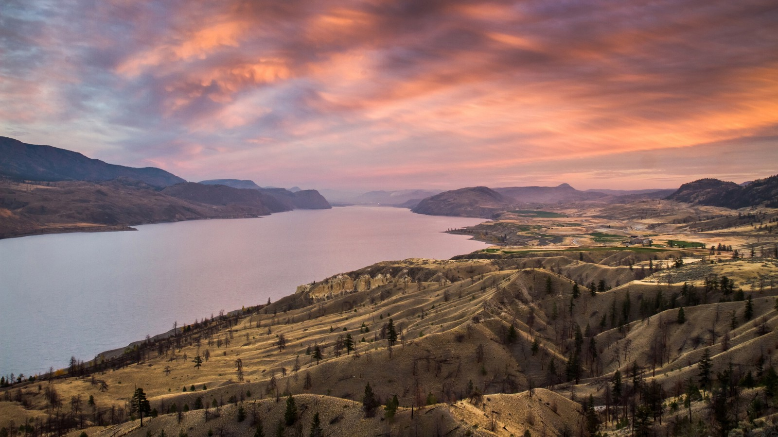 Kamloops Lake in British Columbia, Canada