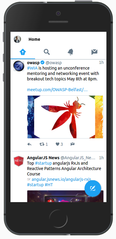 Twitter progressive web application