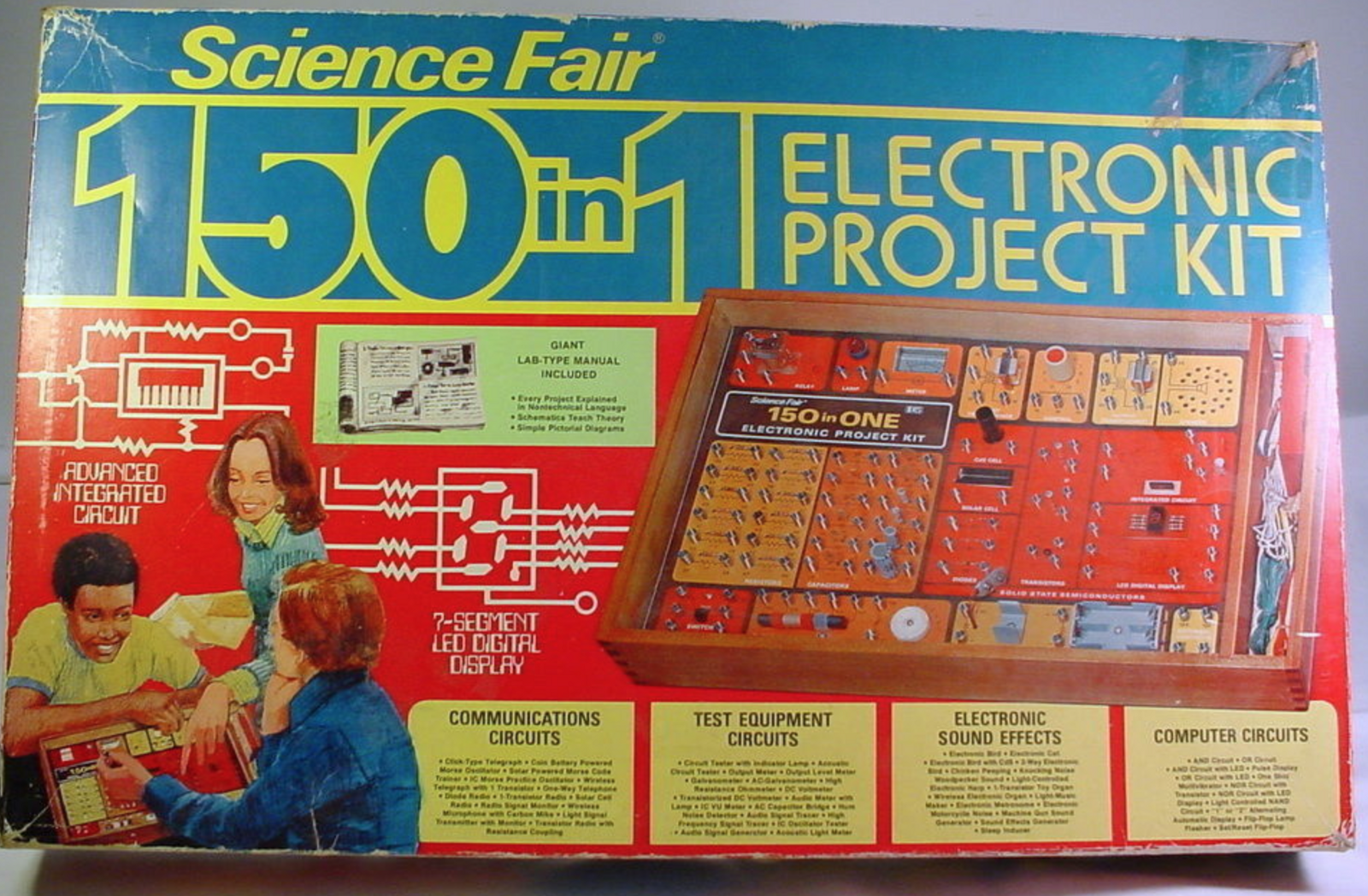 Electronic Project Kits Hands On With A Vintage 160 In 1 Voltage Snap Circuits Wiki Or The Elenco Mx 908 300 Ebay Same Components As Radio Shack Model But Different Color Scheme