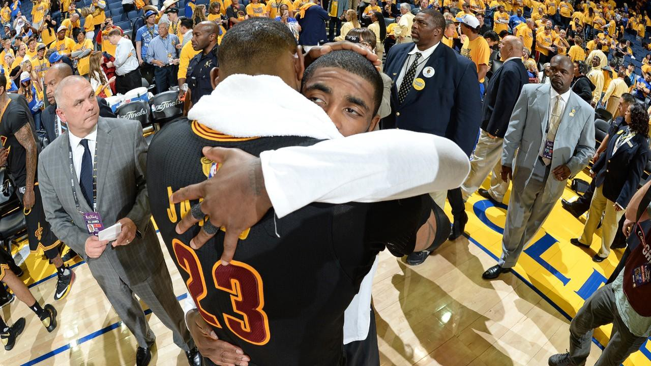 978129e7063 Kyrie Irving and LeBron James led the Cavaliers back from a 3–1 deficit to  win the 2016 NBA Finals (image via slamonline)